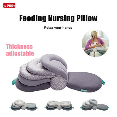 AU Adjustable Maternity Breastfeeding Nursing Pillow Cotton Support Baby Cushion