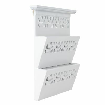 POST newsholder Estante de pared EMPLAZAMIENTO Blanco Antiguo ROSALI