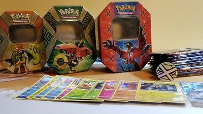 Pokemon Card Tin Poke Tin 10x Boosters 1x coin 1x GX/EX Ultra 9x holo/shiny bulk