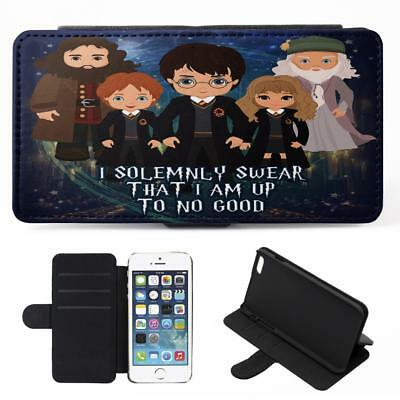 Personalised Harry Potter iPhone Phone Case Flip Cover Wizard Magic Gift ET08