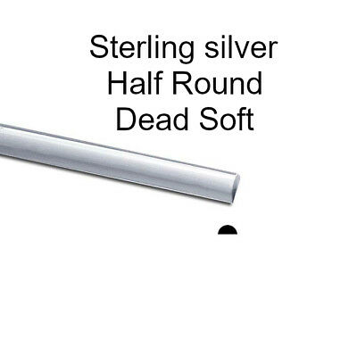 925 Sterling Silver Half (1/2) Round  Wire Dead Soft Various Gauges Jewellery