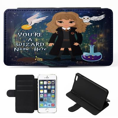Personalised Harry Potter iPhone Phone Case Flip Cover Witch Wizard Gift ET06