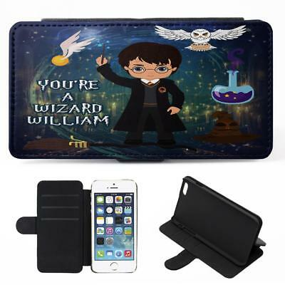 Personalised Harry Potter iPhone Phone Case Flip Cover Witch Wizard Gift ET09