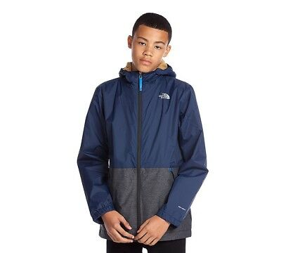 Junior North Face Warm Storm Cosmic Blue Jacket RRP. £69.99 (PA21)