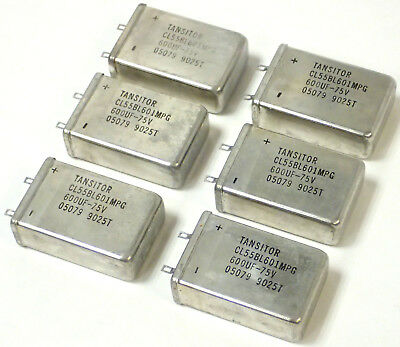 Lot Of 65 Tansitor Cl55Bl601Mpg Tantalum Capacitor, 05079 9025T, 600Uf-75V, Nos