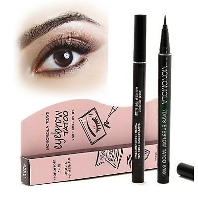 Monomola 7 Days Eyebrow Pen Tattoo Eye Liner Long Lasting Semi Permanent Make Up
