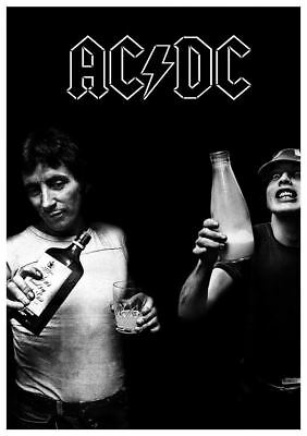 """AC/DC Milk and Alcohol Poster 24"""" x 36"""" AC DC Bon Scott Angus Young"""