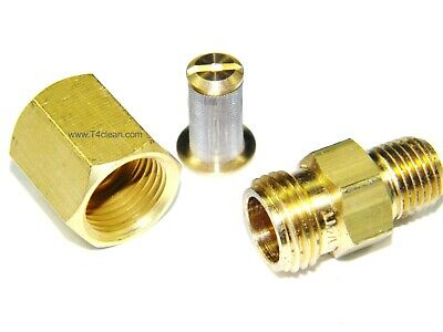"Carpet Cleaning - Brass 1/4"" In-line Filter for Wands, Hoses"