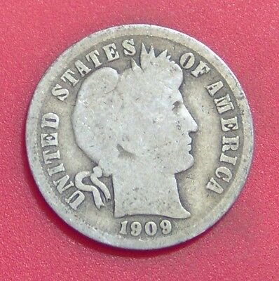 1909 O Barber Dime Silver Ten Cent **free Shipping ** B1739