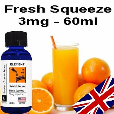 Element e liquid | Fresh Squeeze | 60ml | 3mg