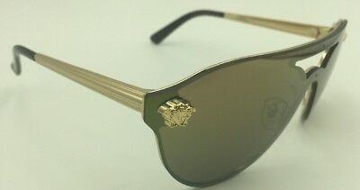 Versace MOD. 2161 1002/F9 Sunglasses - Pale Gold w/Brown Mirror Gold Lens