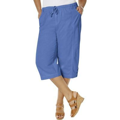e647e98d2857e Karen Scott Womens Cotton Comfort Waist Casual Capri Pants Plus BHFO 8619