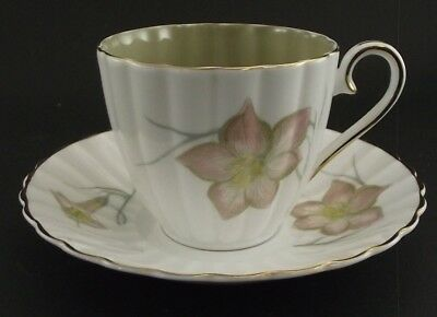 Susie Cooper  Floral Antique Cabinet Tea Cup And Saucer 2 Color 1 Inside 1 Out