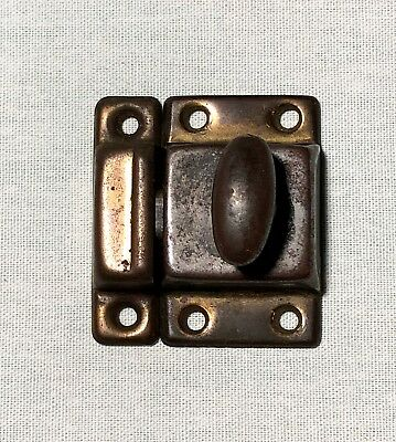 1 Vintage Antique SHABBY Metal HOOSIER Cabinet Cupboard Turn Knob Latch