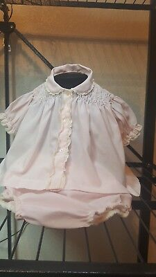 VTG Baby Girls 3-6 Mos. Pink 2-Piece Dressy diaper  Set, Cute!