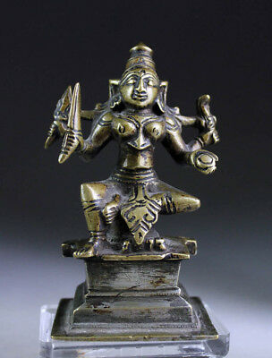 *SC* EARLY SOUTH INDIAN BRONZE FIGURE OF GODDESS DURGA, 18th. century.
