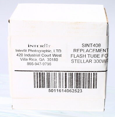 New -- Interfit Sint408 Replacement Flash Tube For Stellar 300W/s Light