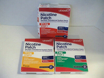 Leader Nicotine Patch - Stop Smoking Aid - Steps 1, 2, & 3 05/18