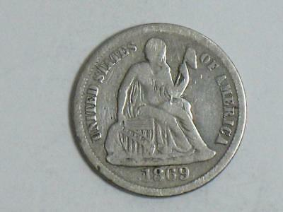 1869-S Seated Liberty Dime