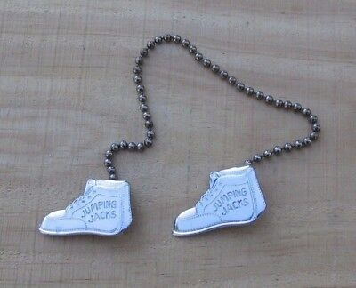 Vintage 1950's Beaded Chain Baby Bib Holder JUMPING JACK SHOES Ad Premium