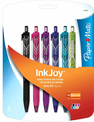 Paper Mate Inkjoy 300 Rt Ballpoint Pen - 1 Mm Pen Point Size - Assorted Ink -