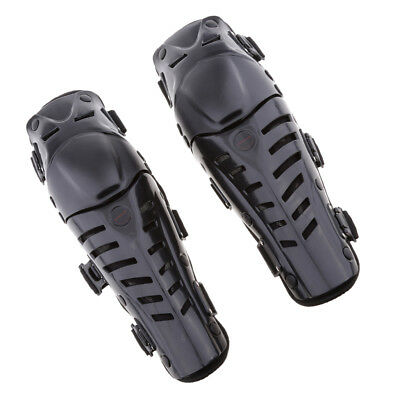 Adults Motorcycle Motocross Knee Shin Guards Pads Brace Protector Gear Black