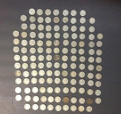 1913-1938 Buffalo Nickels Lot-140 Coins-mid grade-all w/ dates-some better-vg-xf
