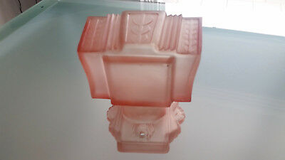 Art Deco Wall Sconce. Pink Glass, Classic, Such A Beauty!