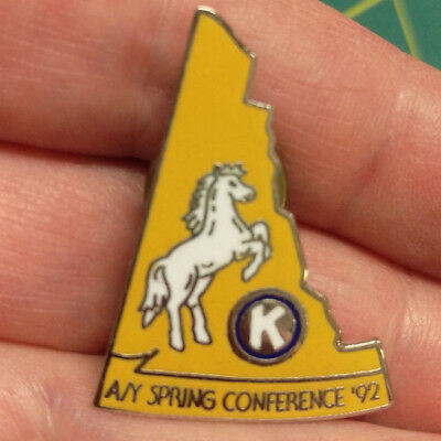 Kiwanis Pin - Alaska Yukon Spring Conference - A/Y 1992 with white horse
