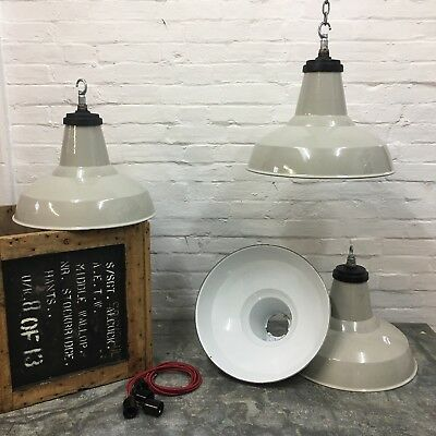 Industrial Vintage Original Kitchen Stone Thorlux Enamel Light Shade