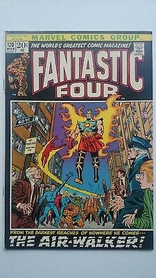 Fantastic Four # 120  Vf+  1St Air-Walker   Cents  1972