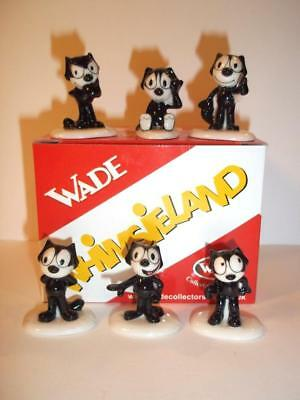 Set Of Six Felix The Cat Wade Whimsies Collector's Club Miniatures 2011