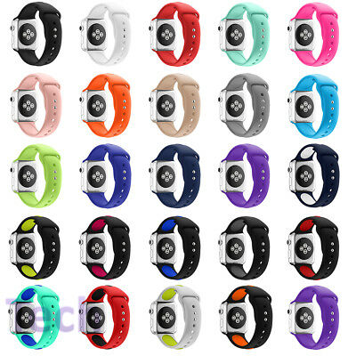 Replacement Soft Silicone Band Strap For Apple  Watch iWatch 38mm 42mm
