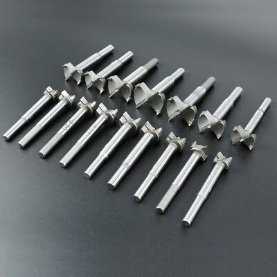 16x Woodworking Forstner Drill Bits Wood Boring Hole Saw Set for Plastic Plywood