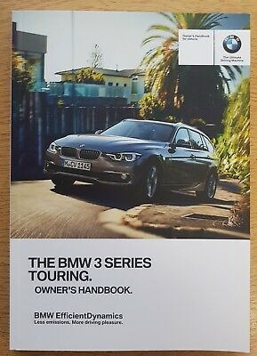 genuine bmw 3 series touring f31 handbook owners manual 2015 2018 rh picclick co uk BMW 3 Series Floor Mats BMW 3 Series Spare Tire