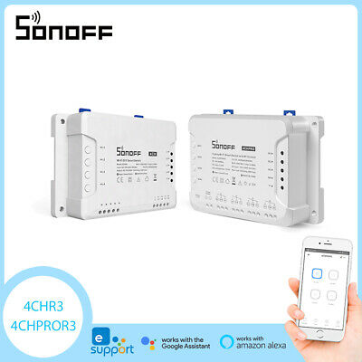 Sonoff 4CH Pro 4 vie di montaggio Telecomando WiFI Wireless 433MHZ Smart Switch