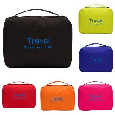AU Travel Bathroom Storage Bag Foldable Cosmetics Bag Pouch Organizer Shower Bag