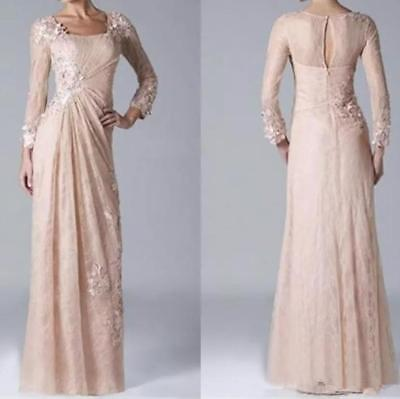 CHAMPAGNE LACE MOTHER of the Bride Dress Plus Size Long ...