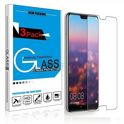3Pack Protective For Huawei P20/P20 Pro/P20 Lite Tempered Glass Screen Protector