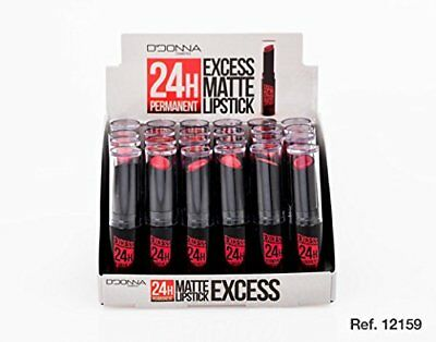 Lot 6 Rouge A Levre Matte Excess Tenue 24H Permanent Tons Rouge Mat Maquillage