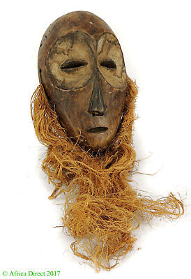 Lega Mask Bearded White Face Congo Africa SALE WAS $195
