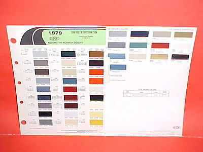 1979 Chrysler Cordoba Dodge Magnum Xe Diplomat Plymouth Volare Paint Chips 79