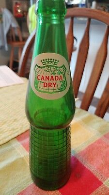 Vintage Green Glass Canada Dry 8 oz bottle from Batesville Indiana
