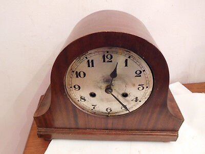 "Vintage Deco Bentwood"" "" Mantle Clock !!yes Working!!!"