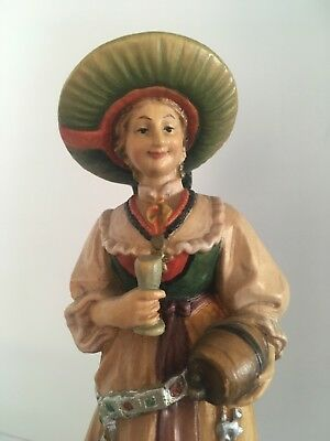 Anri Wood Carving from Groden Wedding Party - Female Attendant