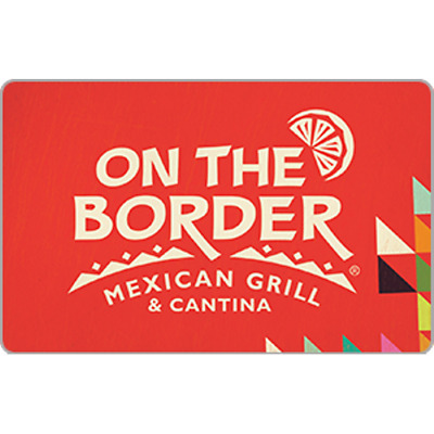 On the Border Gift Card $50 Value, Only $43.00! Free Shipping!