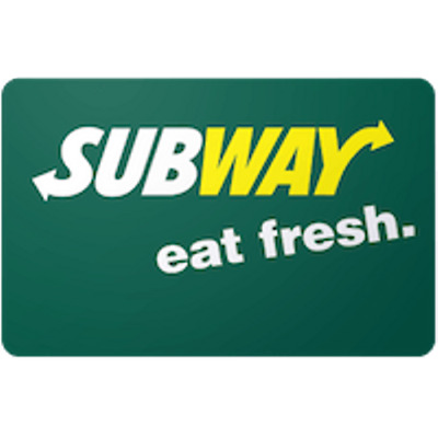 Subway Gift Card $15 Value, Only $14.50! Free Shipping!