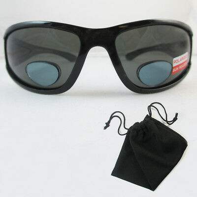 b758a1f5f3 Polarized Bifocal Sunglasses Womens Men Fishing Reading Black 1.50 2.00  2.50 New