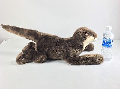 Wildlife Artists 2004 Virginia Aquarium River Otter Brown Stuffed Animal Plush