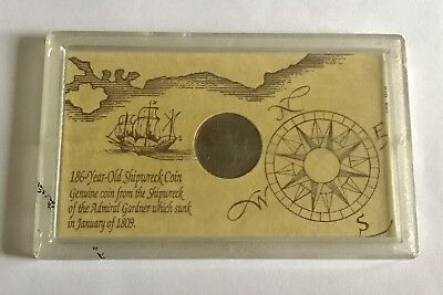 East India Company 1808 Admiral Gardner Shipwreck Coin in Case With COA Lot 1036